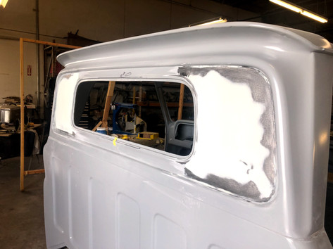 rear cab bow hammered flat