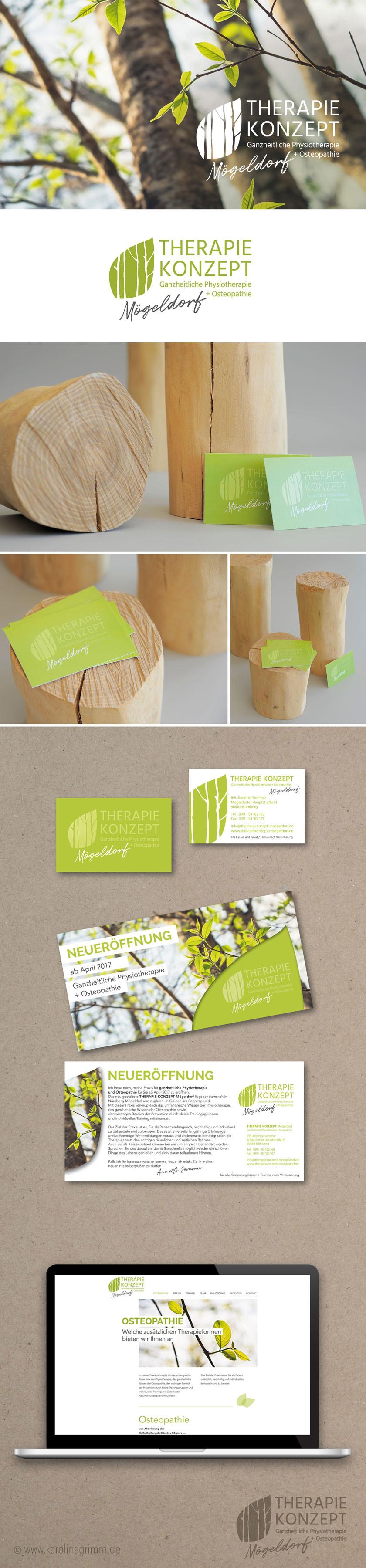THERAPIEKONZEPT Mögeldorf | Logo | Flyer | Visitenkarte |Webdesign