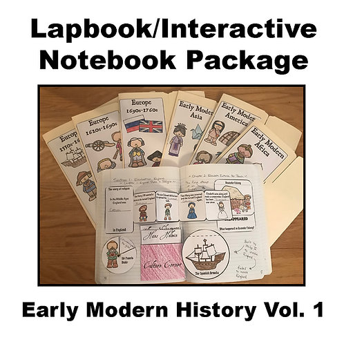 Early Modern History Vol. 1 Lapbook/Interactive Notebook Package