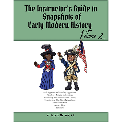 Softcover Instructor's Guide to Snapshots of Early Modern History Vol. 2