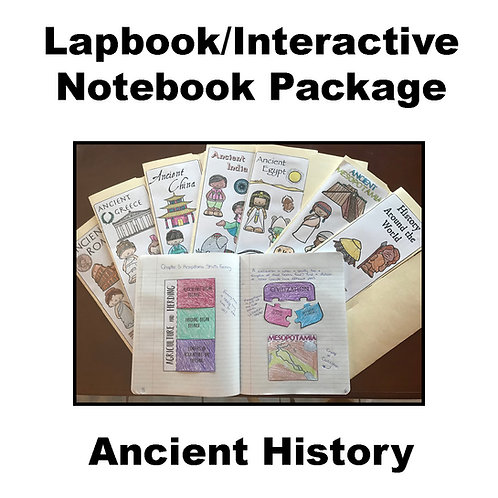 Ancient History Lapbook/Interactive Notebook Package
