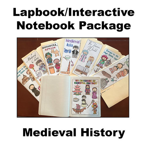 Medieval History Lapbook/Interactive Notebook Package