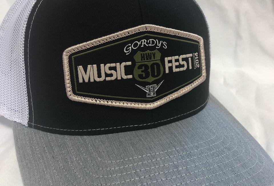 Hwy 30 Hats   Black, White Mesh & Gray bill
