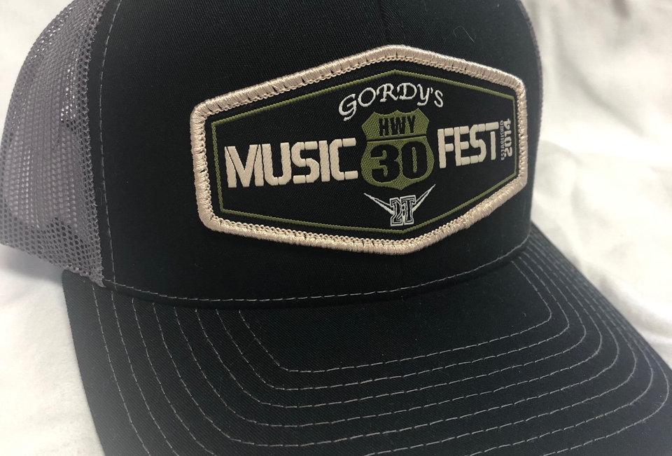Hwy 30 Hats   Black, Gray Mesh