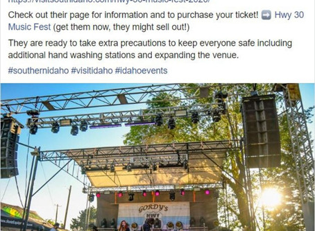 Visit Southern Idaho tells all about Hwy 30 Music Fest 2020