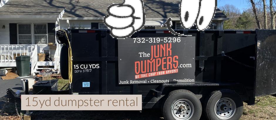 Front lawn dumpster rental