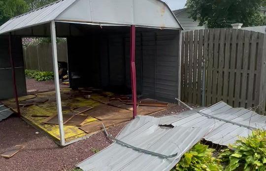 Metal sheds too!