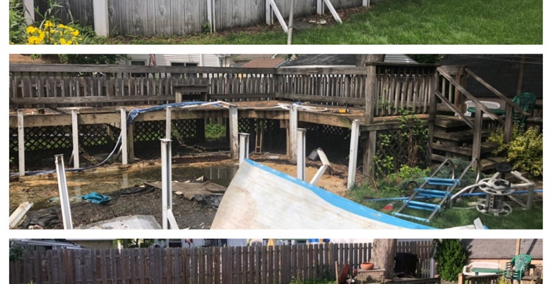 Above ground pool / deck removal