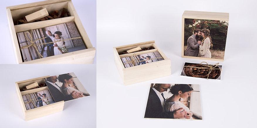 scatola personalizzata matrimonio chiavetta