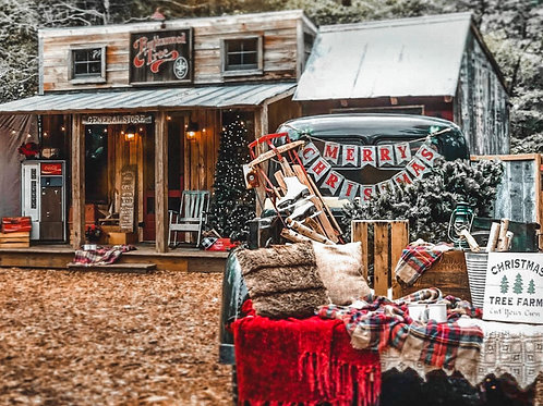 Christmas Shack with Truck