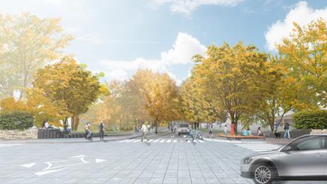 北海道大学北13条門交差点改修計画