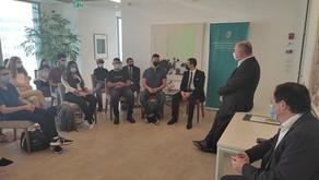 ביקור תלמידי דיפלומטיה בשגרירות אירלנד בתל אביב