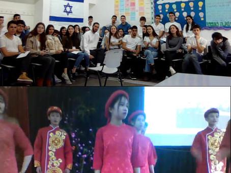 ישראל - ויאטנם שיעור אנגלית וירטואלי משותף