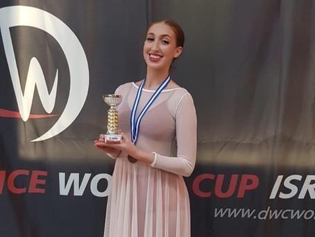רותם יושעי יא 17  זכתה במקום 3 באליפות הארץ במחול