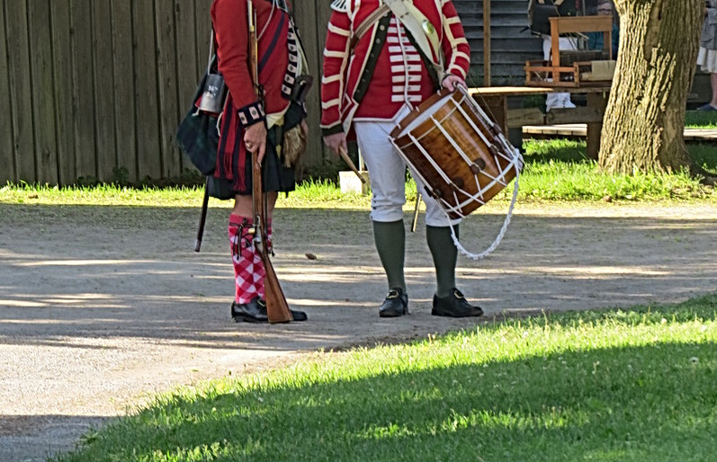 The Acting Brigade Sergeant-Major and the the Drum-Major
