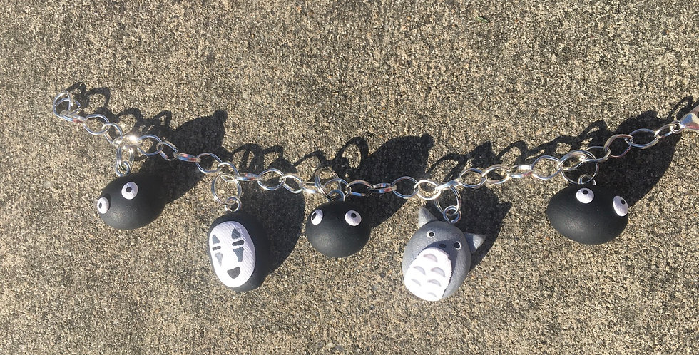 Ghibli Charms bracelet 8 inches