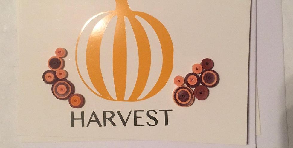 4pcs Harvest Cards