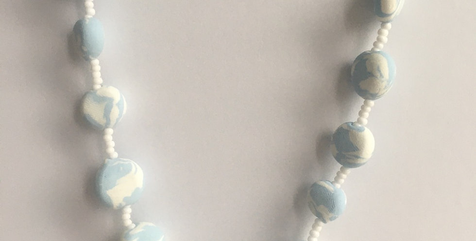 """Skies of Blue Pullover Necklace 36"""""""