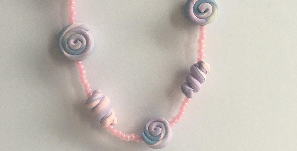 "Unicorn Swirl Pullover Necklace 32"""