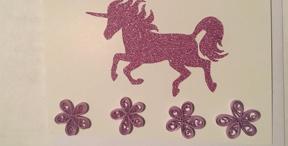 4pcs Unicorn Cards