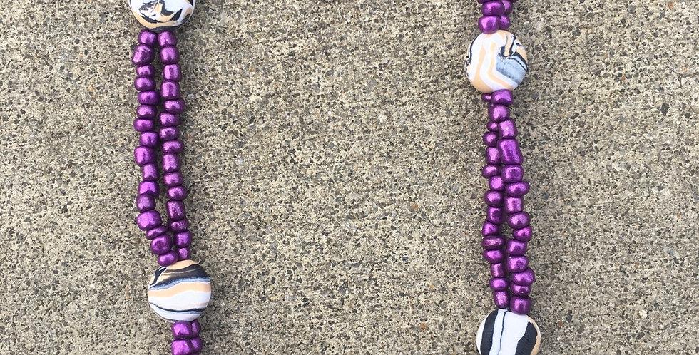 2 strand violet beach pullover 30inch