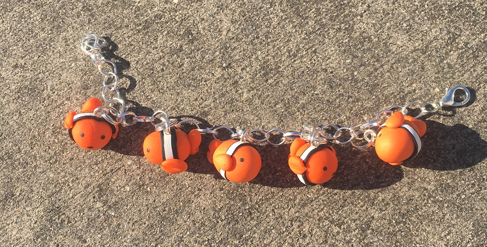 Clown Fish bracelet 8inches
