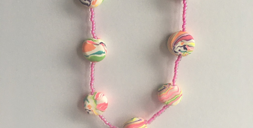 Lollipop Swirl Pullover Necklace 36""