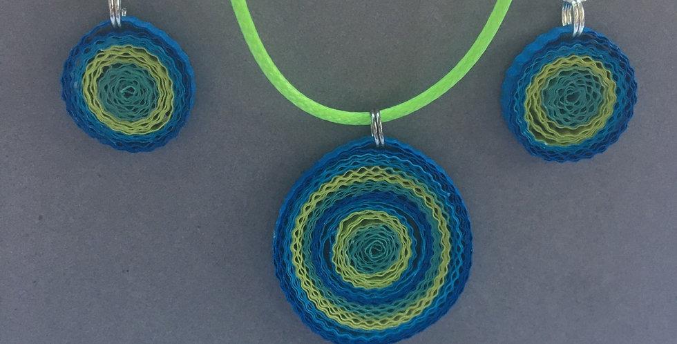 Blue Green Wave Set