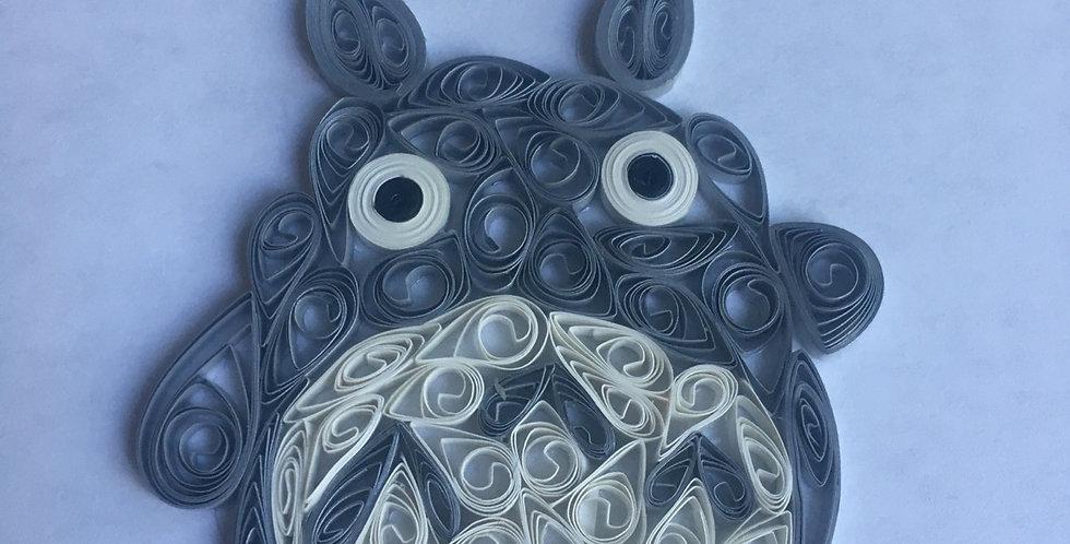 Cuddly Totoro  4x6 Framed