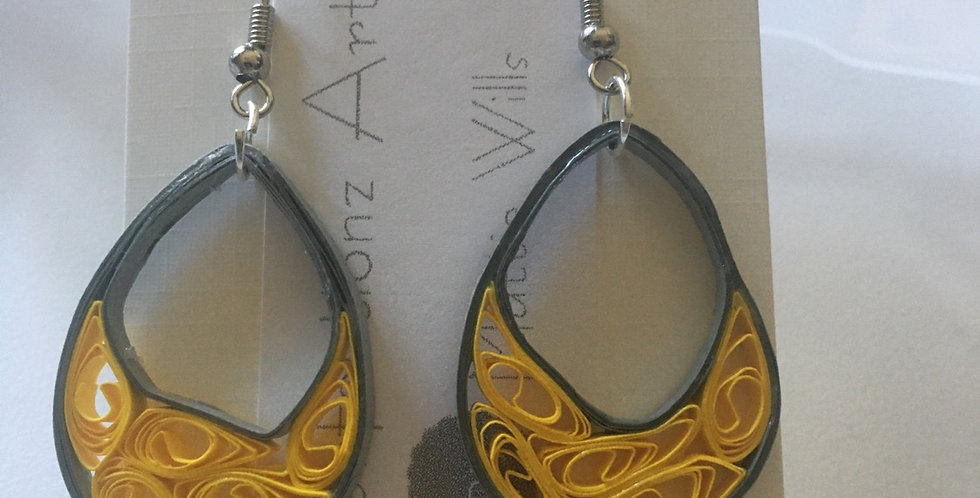 Grey& Yellow Earrings