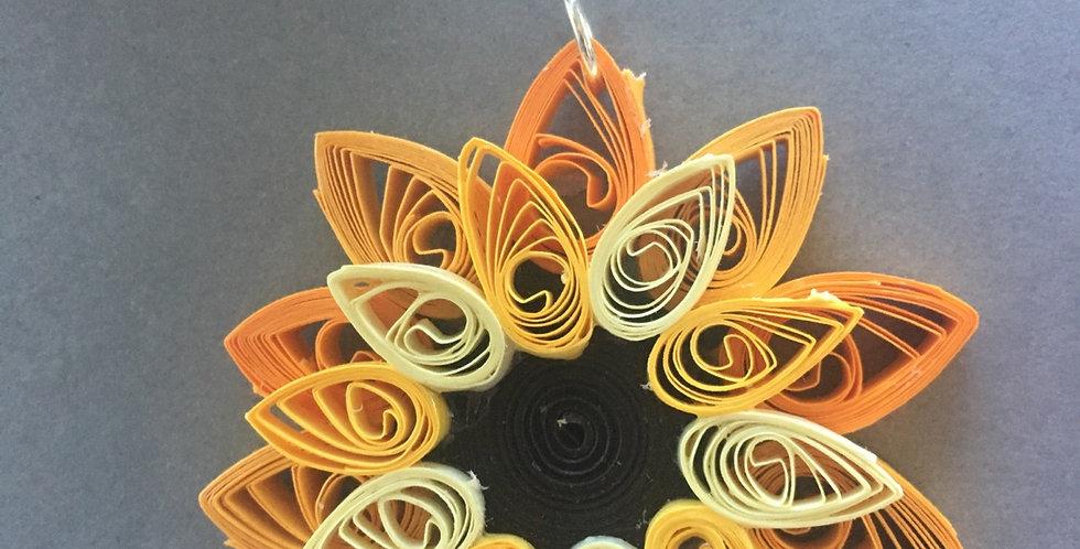 Lg Sunflower Pendant