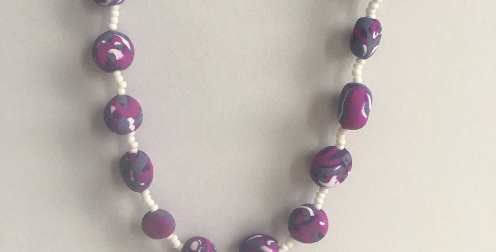 """Violet Swirl Pullover Necklace 36"""""""