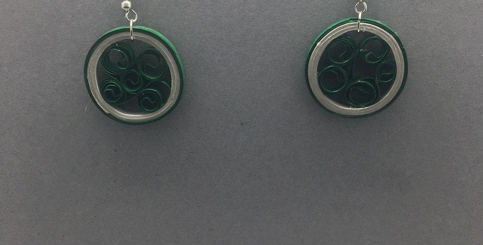 Grey and Green Circles