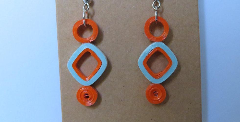 Lt. Blue & Orange Earrings
