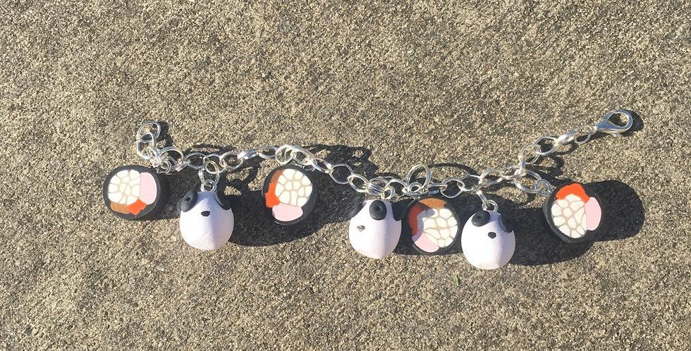 Sushi Panda bracelet 8inches