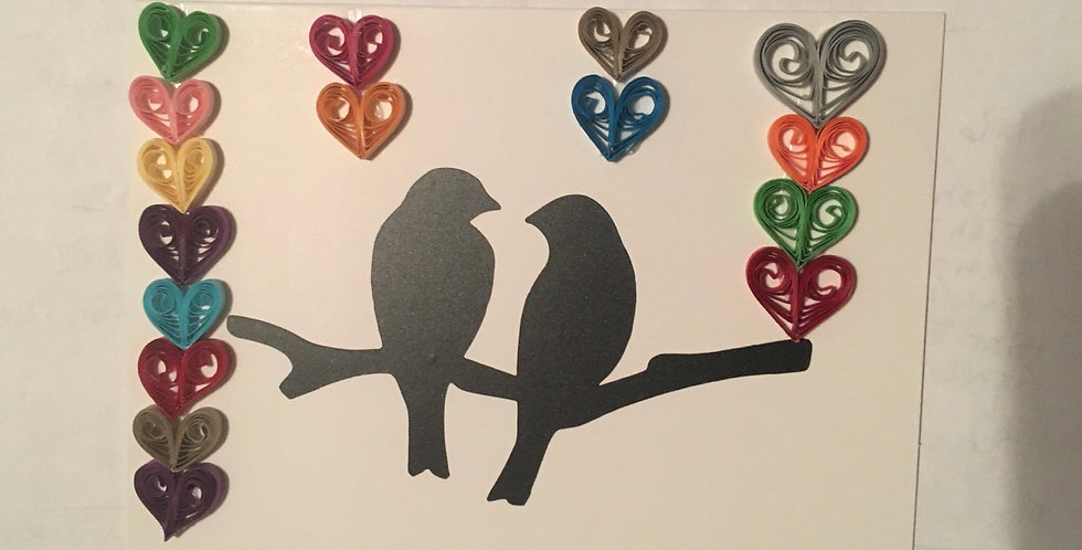 4pcs.Two Birds/ Sweet Harts Cards