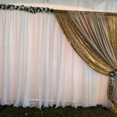 Voile and Sequin Backdrop