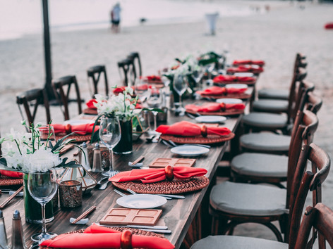Rehearsal dinner - Red - Waterfront