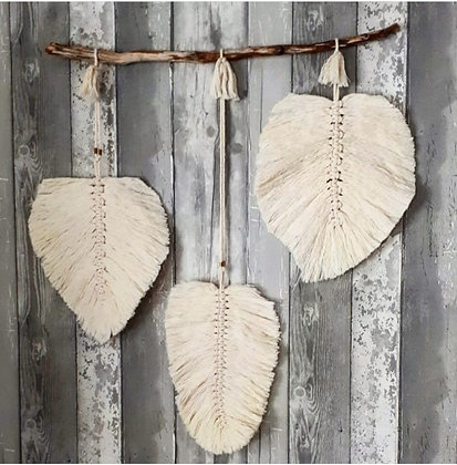"""Wall Hanging Macrame Feather """"DREAM"""""""
