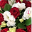Thumbnail: Lisianthus blanco y rosas rojas
