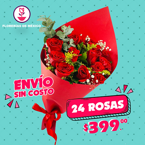 24 Rosas Oferta