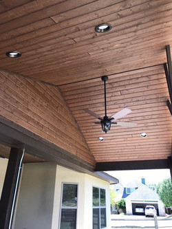 Tongue and Groove patio Cover