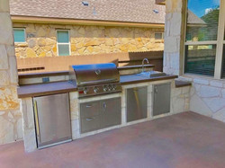 Limestone Outdoor Kitchen