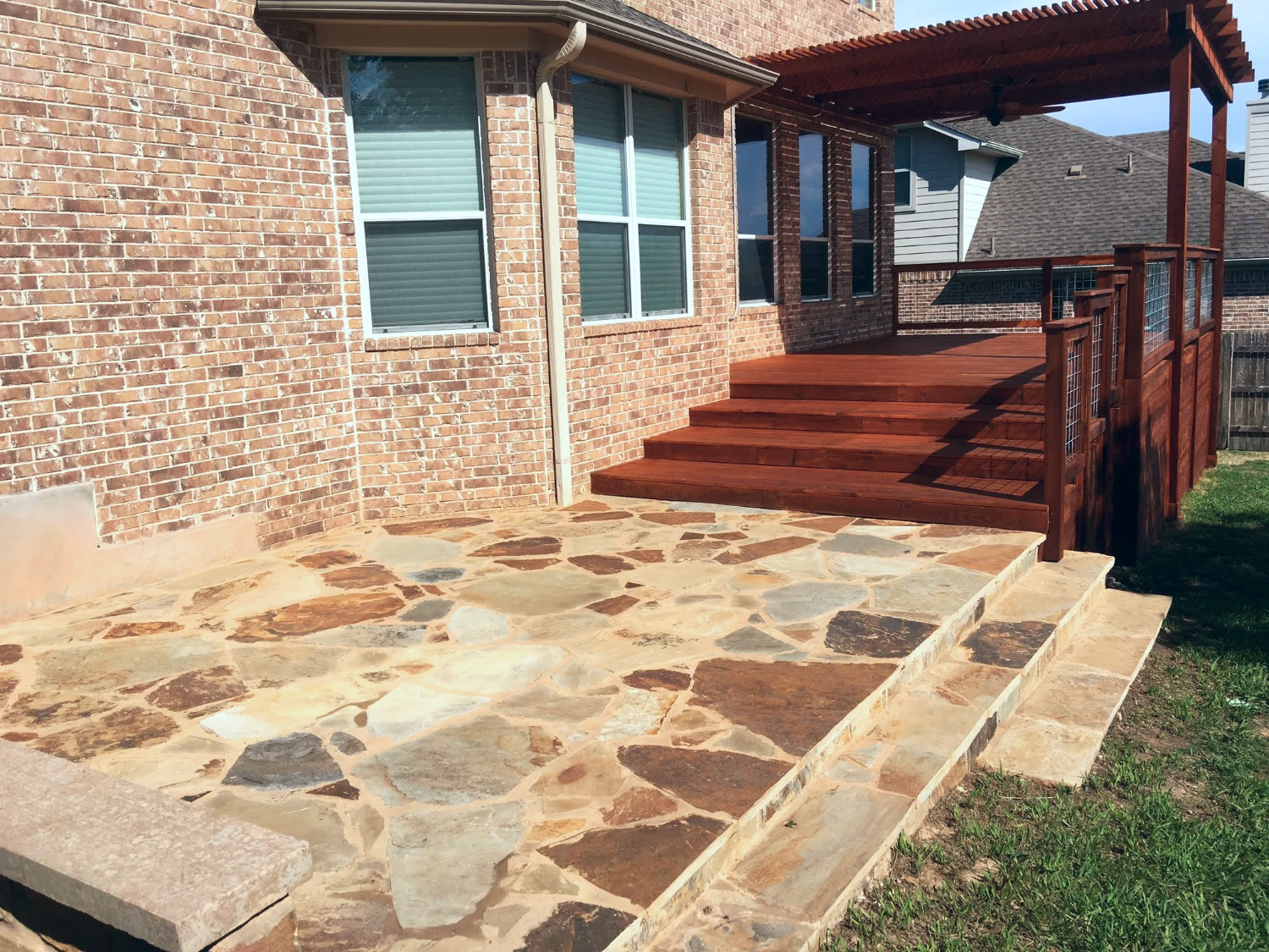 Flagstone Patio and Deck