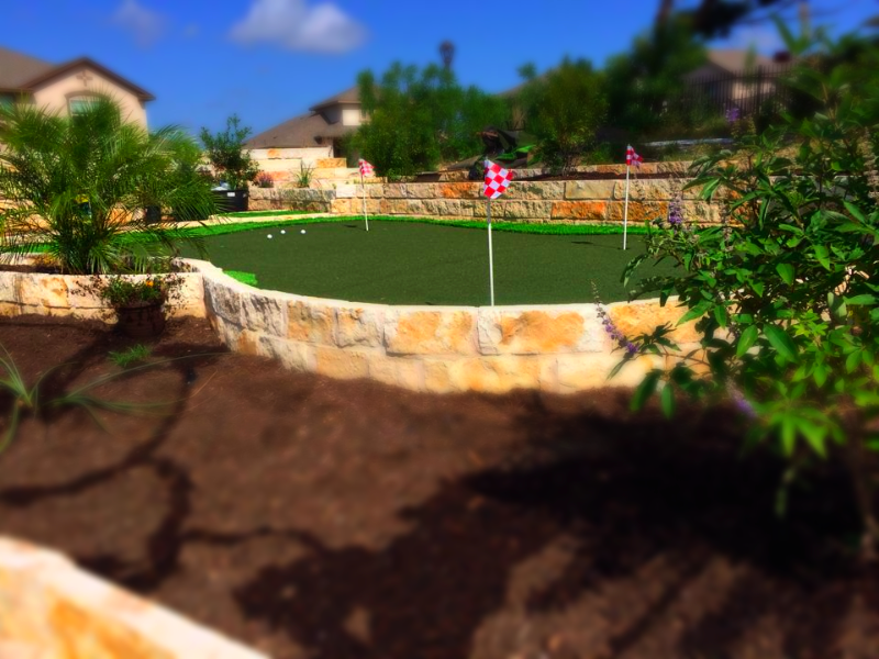 Putting Green, Patio and Planter