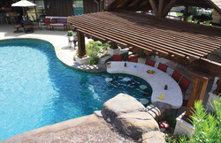 Poolscape with Bar & Shade