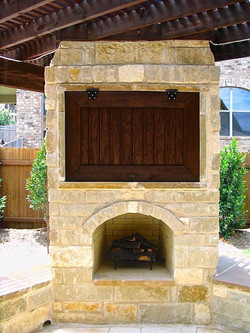 Fireplace with TV insert