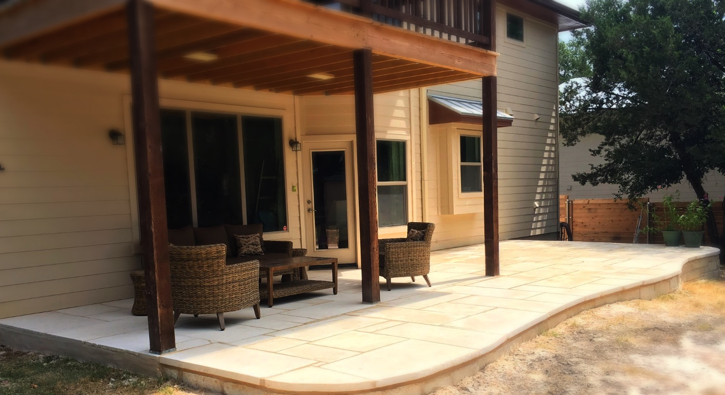 Sawn Limestone Patio