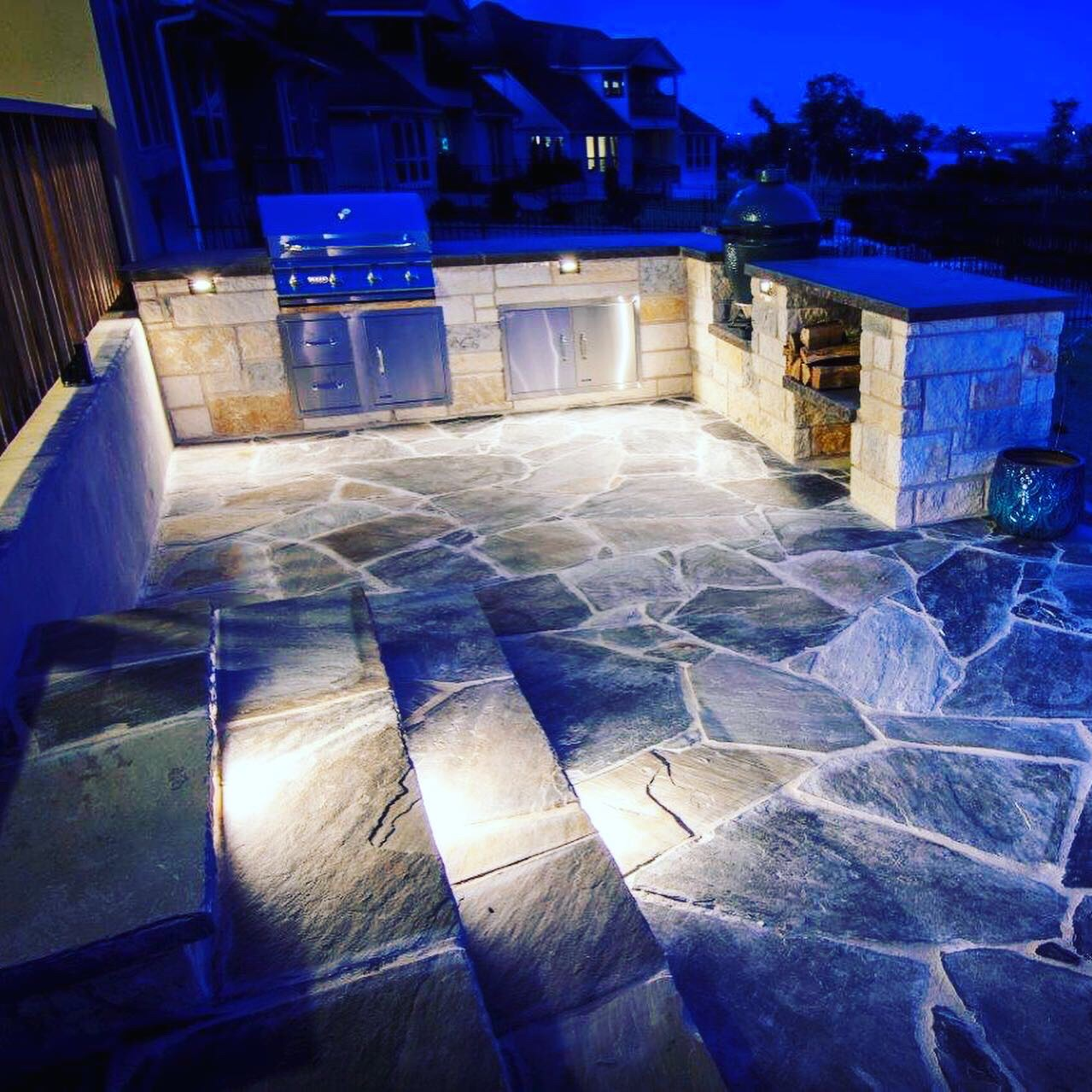 Outdoor Kitchen at Night