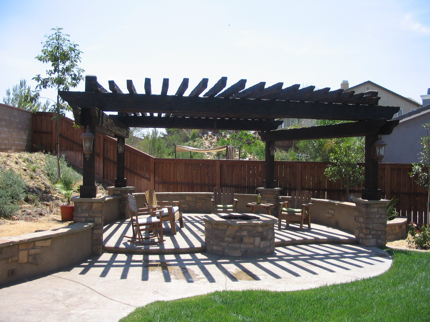 Patio and Pergola